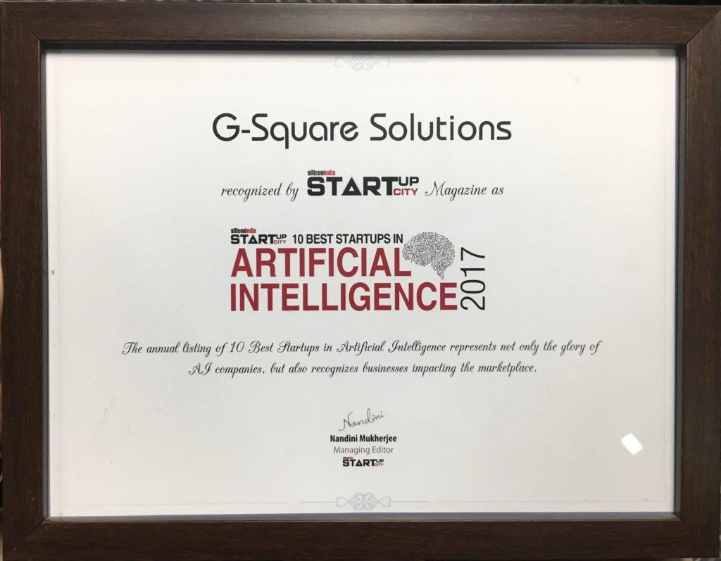 G-Square StartUp city award
