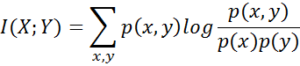 mutual information formula
